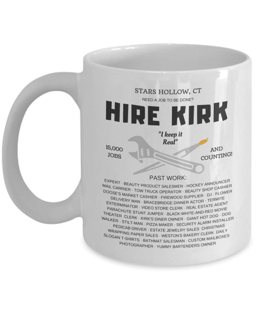 Amazon.com: Hire Kirk - Gilmore Girls Coffee Mug Gift ...