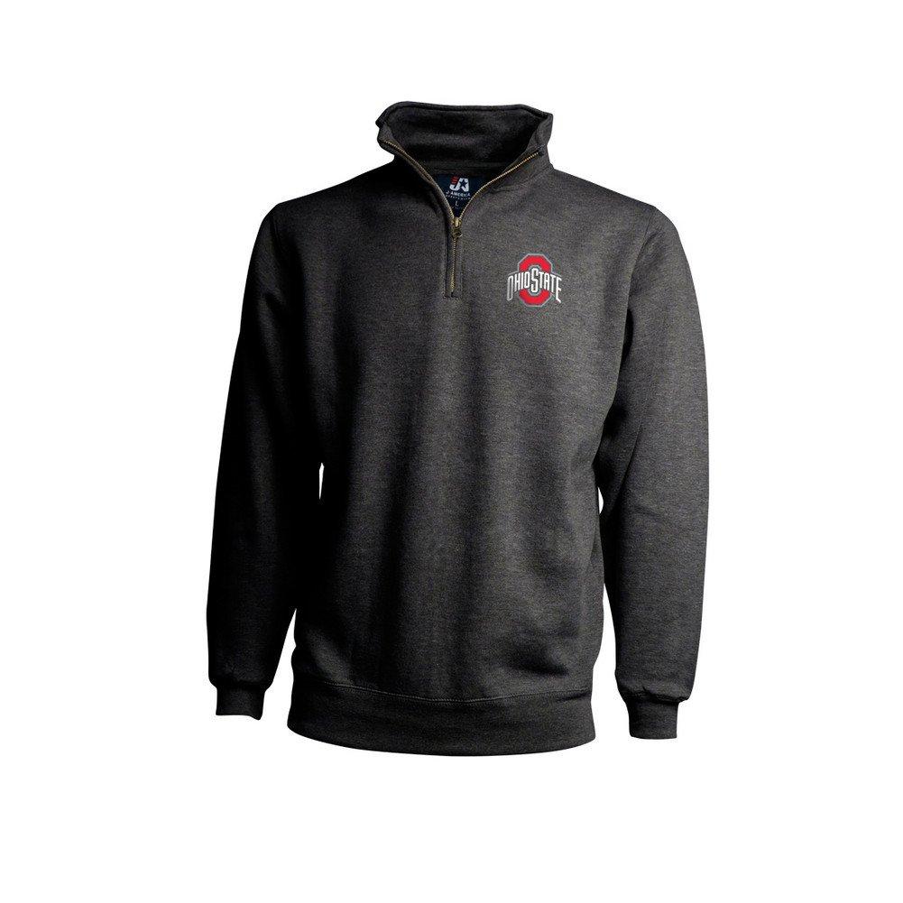 Elite Fan Shop Ohio State Buckeyes Classic Quarter Zip Sweatshirt Charcoal