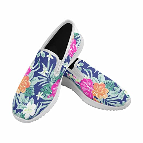 5f1f977c4f3890 Image Unavailable. Image not available for. Color  INTERESTPRINT Women s  Slip-On Canvas Loafer Shoes Fashion Sneakers ...
