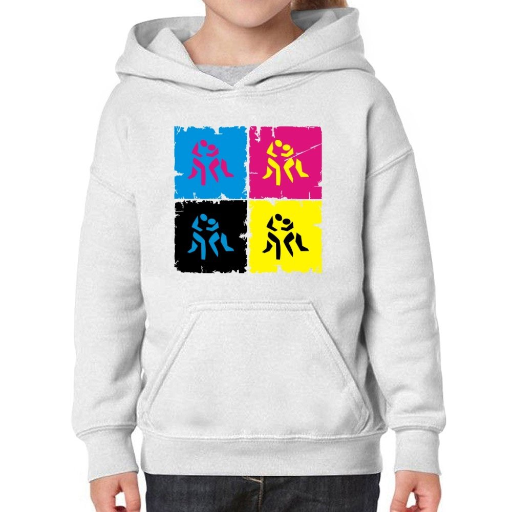 Teeburon Wrestling Pop Art Girl Hoodie