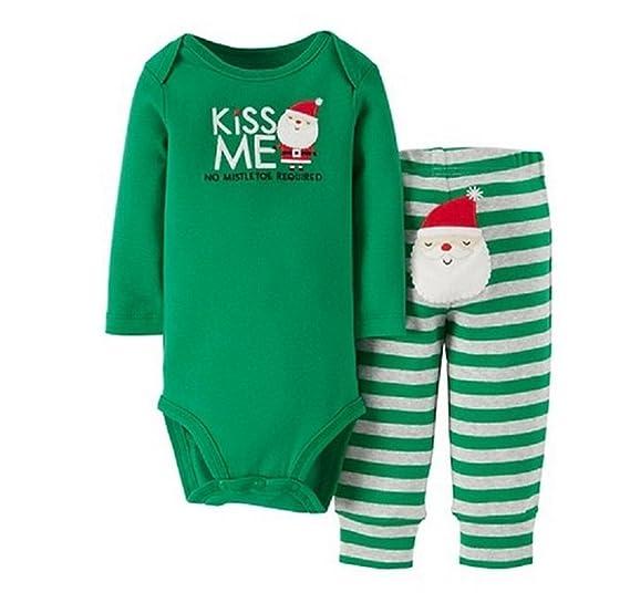40335c32a7b2 Amazon.com  Carters Infant Boys Kiss Me Christmas Holiday Outfit ...