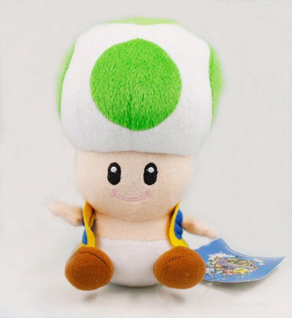 Amazon Com Aofeng Super Mario Bros Green Mushroom Toad Plush Doll