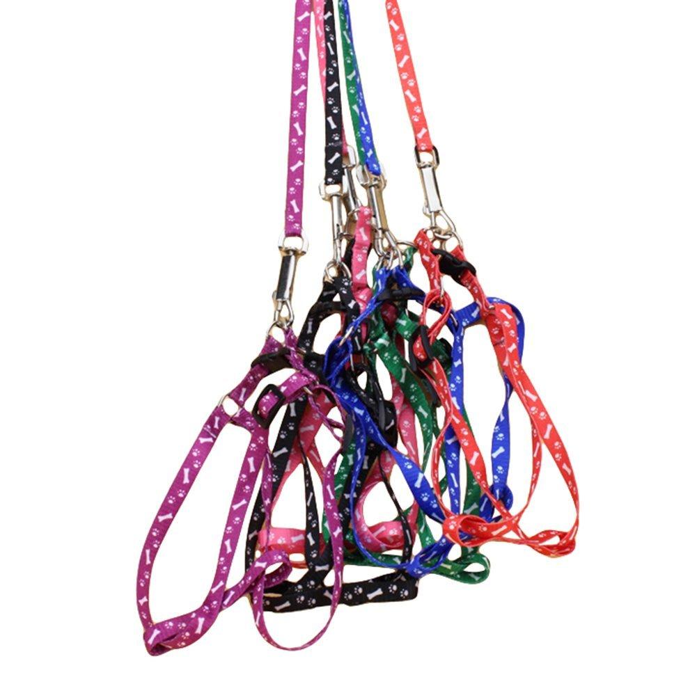 Da. WA 1pcs réglable pour animal domestique Chien Sangle de poitrine Harnais avec Traction Corde pour animal domestique Chien Chaîne Ceinture Da.Wa