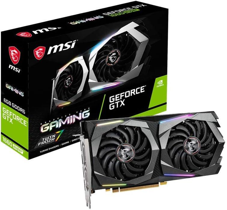 MSI Geforce GTX 1660 Super TM Gaming X - Tarjeta gráfica (6 GB GDDR6, 192 bit, Boost: 1830 MHz, DisplayPort x 3, HDMI 2.0b x 1)