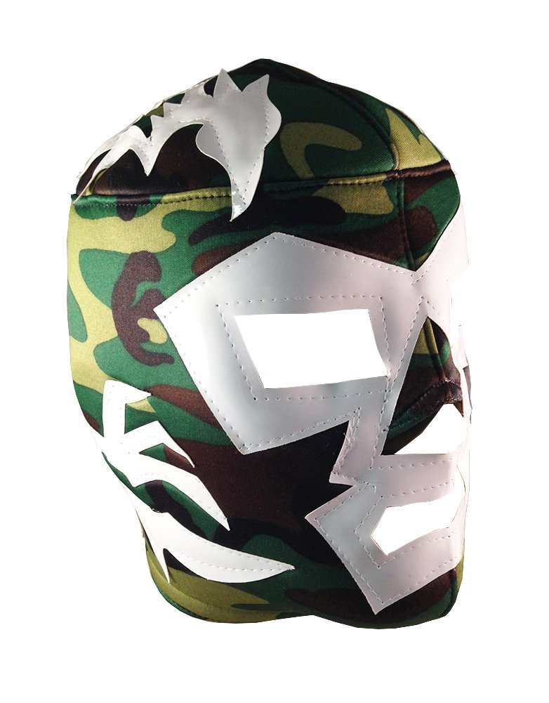 DR. WAGNER Adult Lucha Libre Wrestling Mask (pro-fit) Costume Wear - Cammo by Mask Maniac