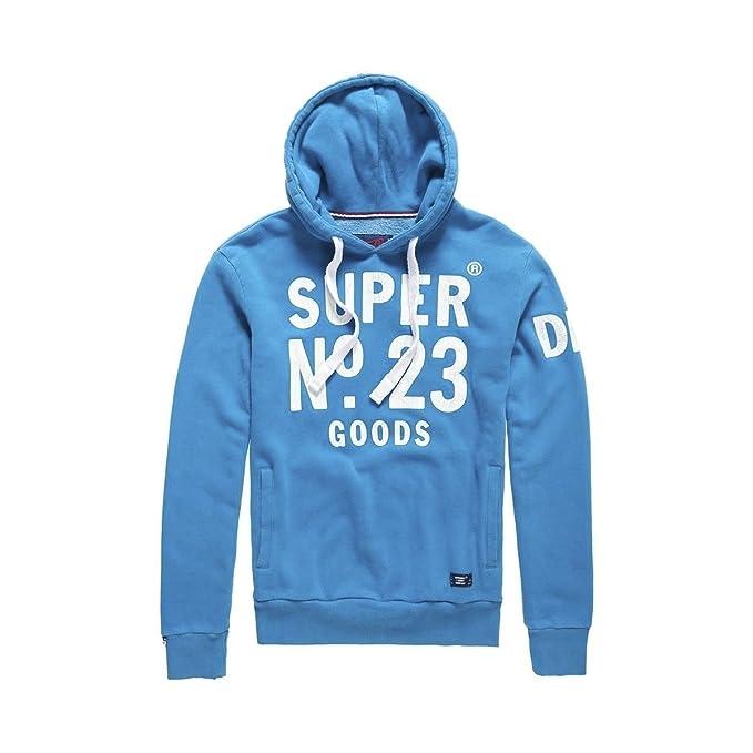 Superdry - Sudadera - para hombre azul large: Amazon.es: Ropa y accesorios