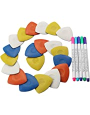 Triangle tailor's Fabric Marker chalk and washable pen set for Sewing cloth