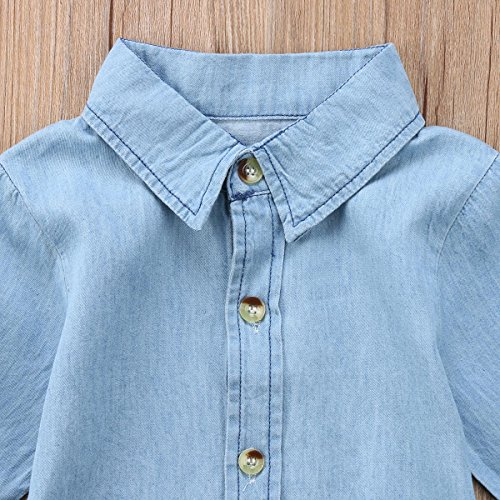 BiggerStore-Fashion-Kids-Toddler-Baby-Girl-HalfLong-Sleeve-Denim-Dress-with-Belt-2-7T