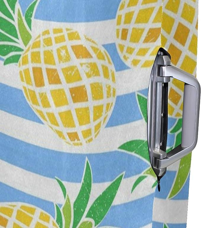 m Pineapple Fruit Pattern 3 Set Packing Cubes,2 Various Sizes Travel Luggage Packing Organizers