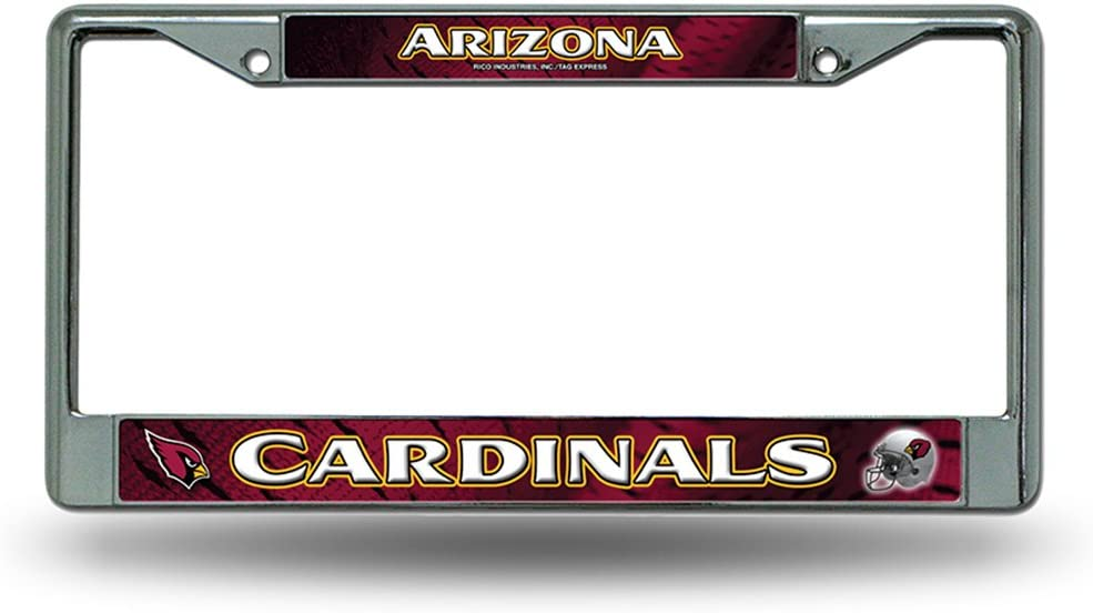 Rico Industries NFL Fan Shop Easy View Chrome License Plate Frame