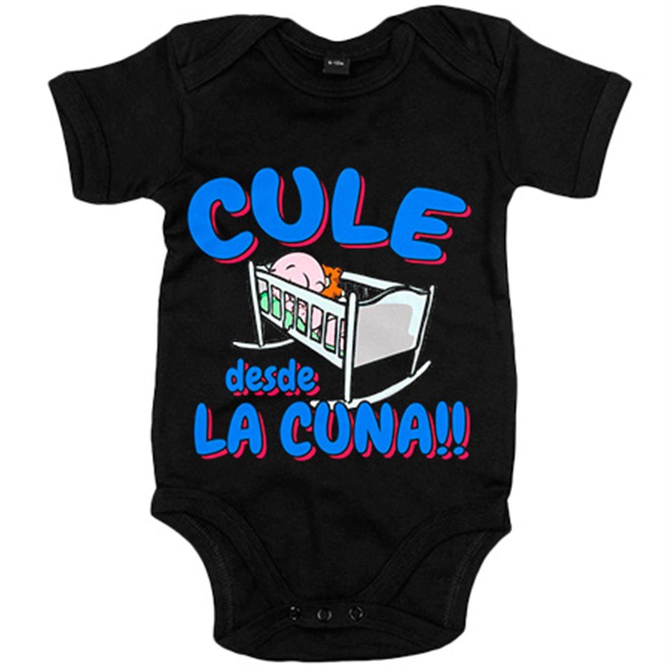 Body bebé Culé desde la cuna Barcelona fútbol - Amarillo, 6-12 meses
