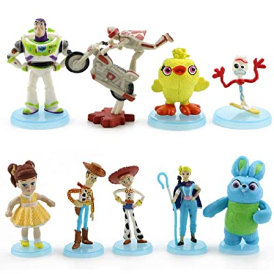 9 Pack Toy Story 4 Figure Set Cake Toppers Action Figures Toys Playset: Toys & Games