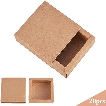20 Piezas Papel Kraft Caja para Regalo de Festival Fiestas Cumpleaños Jabón Caja de Chocolate Caramelos Caja de ...