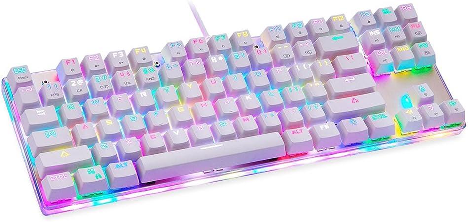 Moto Speed RGB mecánica teclado experimentar, 87 teclas ...