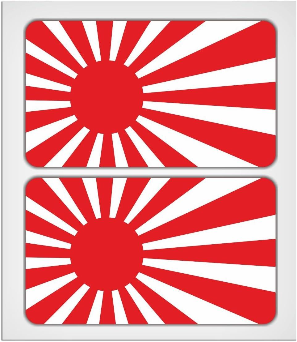MioVespa Collection - Adhesivo de alta calidad, diseño de bandera de Japón en aumento (2 x 70 mm): Amazon.es: Coche y moto