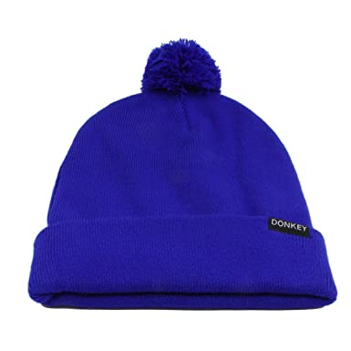 6bc43d423 Donkey 401202 Beanie with changeable bobble, blue: Amazon.co.uk ...
