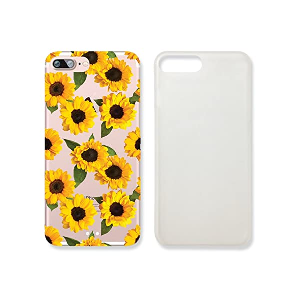 buy popular 99da1 e6ab5 Amazon.com: Sunflower Pattern Slim Iphone 7 Case, Clear Iphone 7 ...