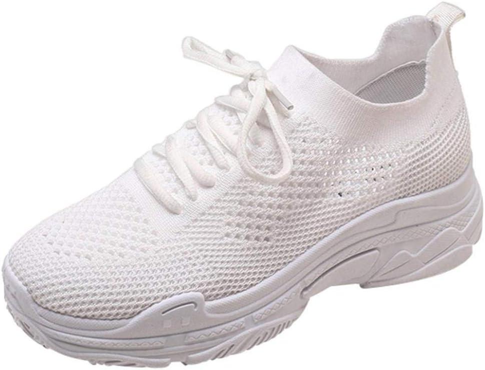 HhGold Liquidación Moda Zapatos para Mujer Zapatos Casuales Caminar al Aire Libre Gimnasio Zapatillas Zapatillas de Deporte para Estudiantes Calzado Deportivo (Color : Blanco, tamaño : 2.5 UK): Amazon.es: Hogar