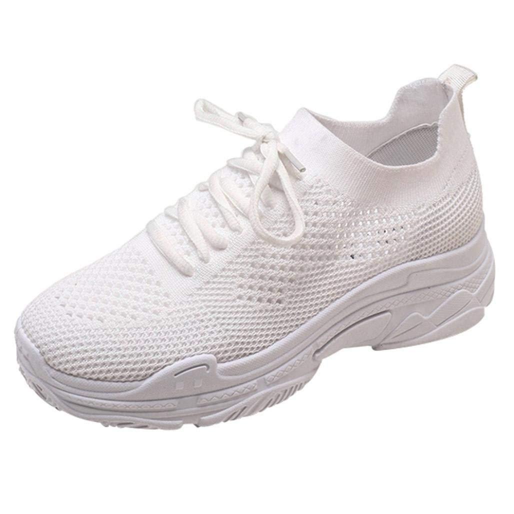 Qiusa Liquidación Moda Zapatos para Mujer Zapatos Casuales Caminar al Aire Libre Gimnasio Zapatillas Zapatillas de Deporte para Estudiantes Calzado Deportivo (Color : Blanco, tamaño : 3.5 UK): Amazon.es: Hogar