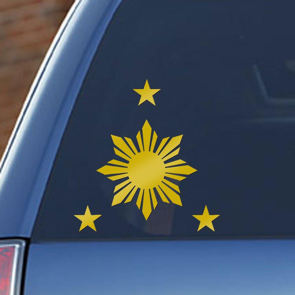 Philippines Flag 1 Sun and 3 Stars - Filipino