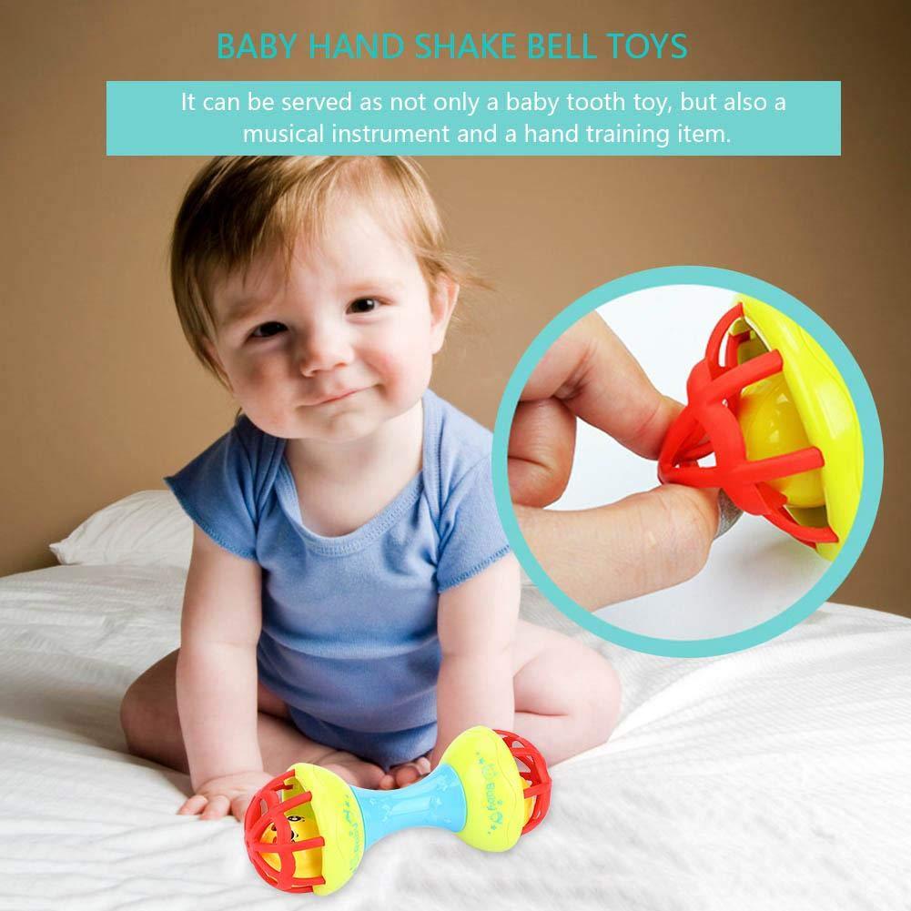 Juguete para beb/é Sonajero Yellow Appease Interactivo Beb/é Mano Sacudir la campana de juguete Juguete Musical Musical Teethers divertido para ni/ños