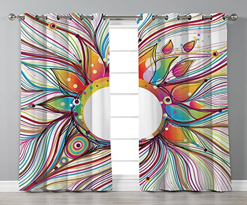 Thermal Insulated Blackout Grommet Window Curtains,Abstract for sale  Delivered anywhere in USA