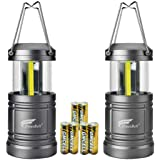 HAUSBELL Portable Lanterns with Magnetic Base, Cob LED Camping Lantern Collapsible Flashlights - Survival Kit for…