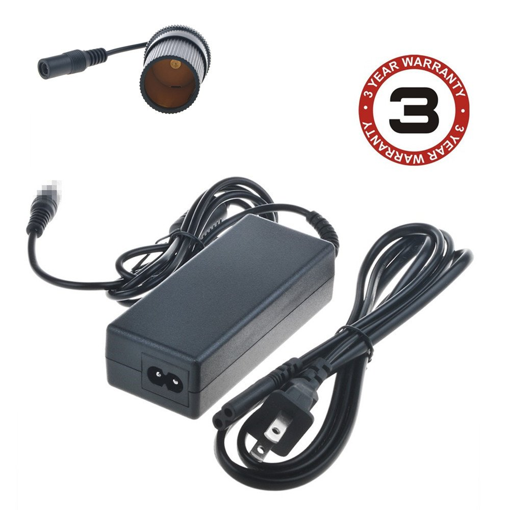 SLLEA AC / DC Adapter Charger for Koolatron P95 Travel Saver Cooler 45-Quart Light Grey