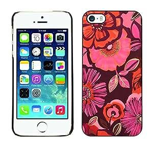 PC/Aluminum Funda Carcasa protectora para Apple Iphone 5 / 5S flowers orange maroon pink floral / JUSTGO PHONE PROTECTOR