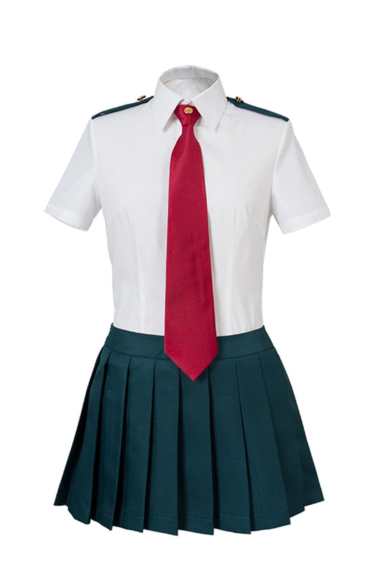NoveltyBoy My Hero Academia Boku No Hero Akademia Ochako Uraraka Tsuyu Asui Summer Uniform (X-Small)