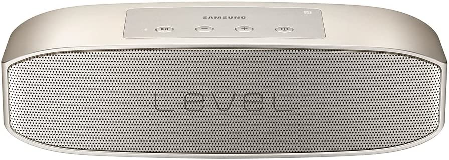 SAMSUNG Level Box Pro - Altavoz portátil inalámbrico Bluetooth, Color Oro- Versión española