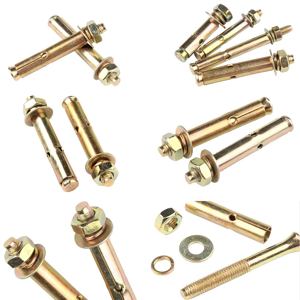 External Hex Nut Expansion Bolt Sleeve Anchor M12120 5 Pieces KINDOYO Expansion Bolts