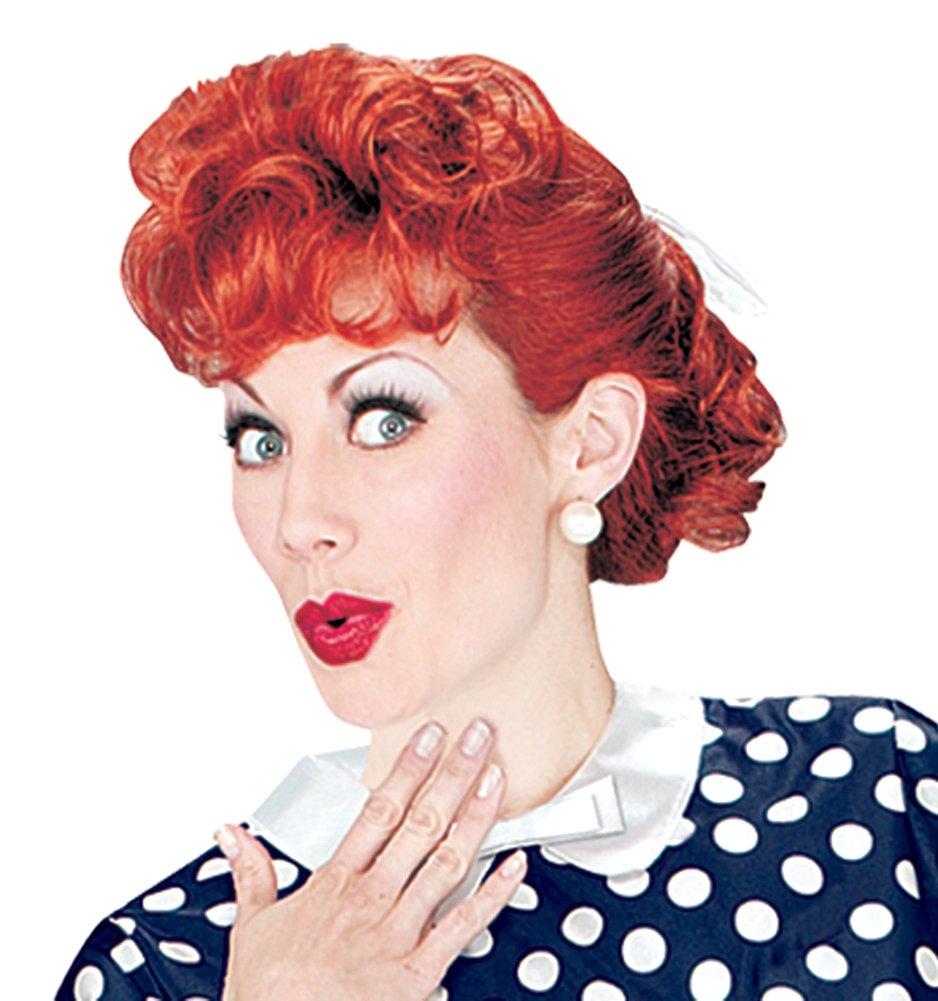 Fun World Women's I Love Lucy Wig Costume Accessory, Multi, Standard