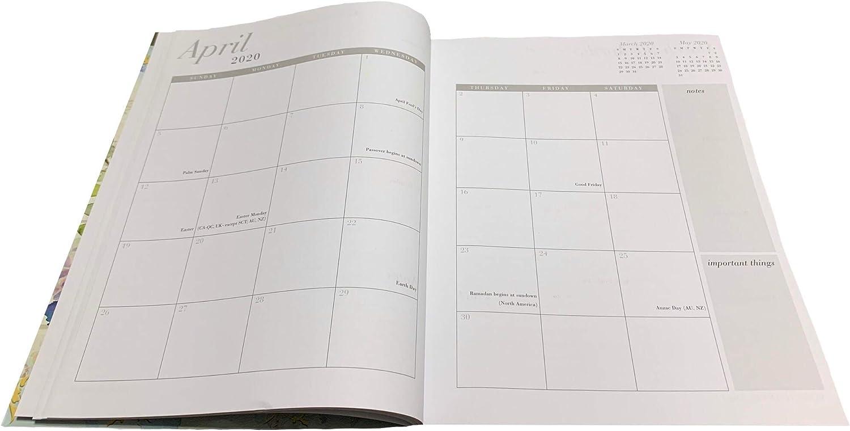 A5 Dickes Papier 140gsm 2020//2021 Planer Diary Wochenplaner Undatiertes Tagebuch Organiser Wochen//Monats//Jahres-Planer Notizbuch Reiseplaner Terminplaner -Pink//Rosa Kalender Ohne Datum