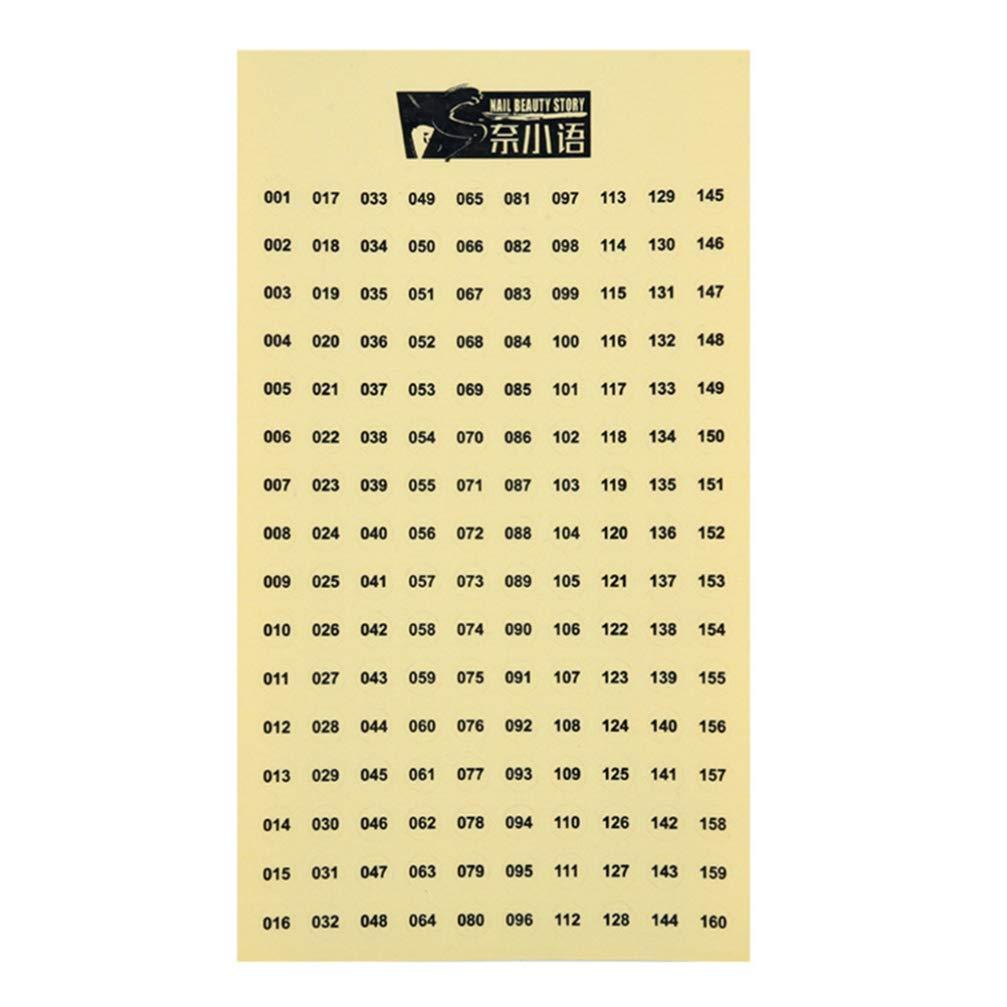 SUPVOX 6 Piezas numeradas Adhesivas Impermeables Autoadhesivas Etiquetas Redondas de n/úmeros 1-480 para organizar el inventario