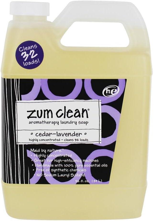 Indigo Wild Zum Clean, Aromatherapy Laundry Soap, Cedar-Lavender, 32 fl oz (.94 L)