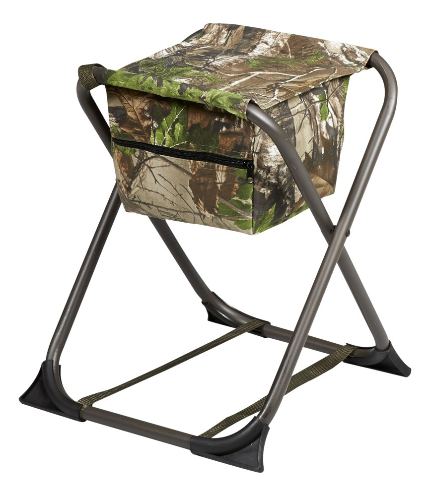 Hunter's Specialties Camo Furniture Dove Stool without Back, Realtree Xtra Green
