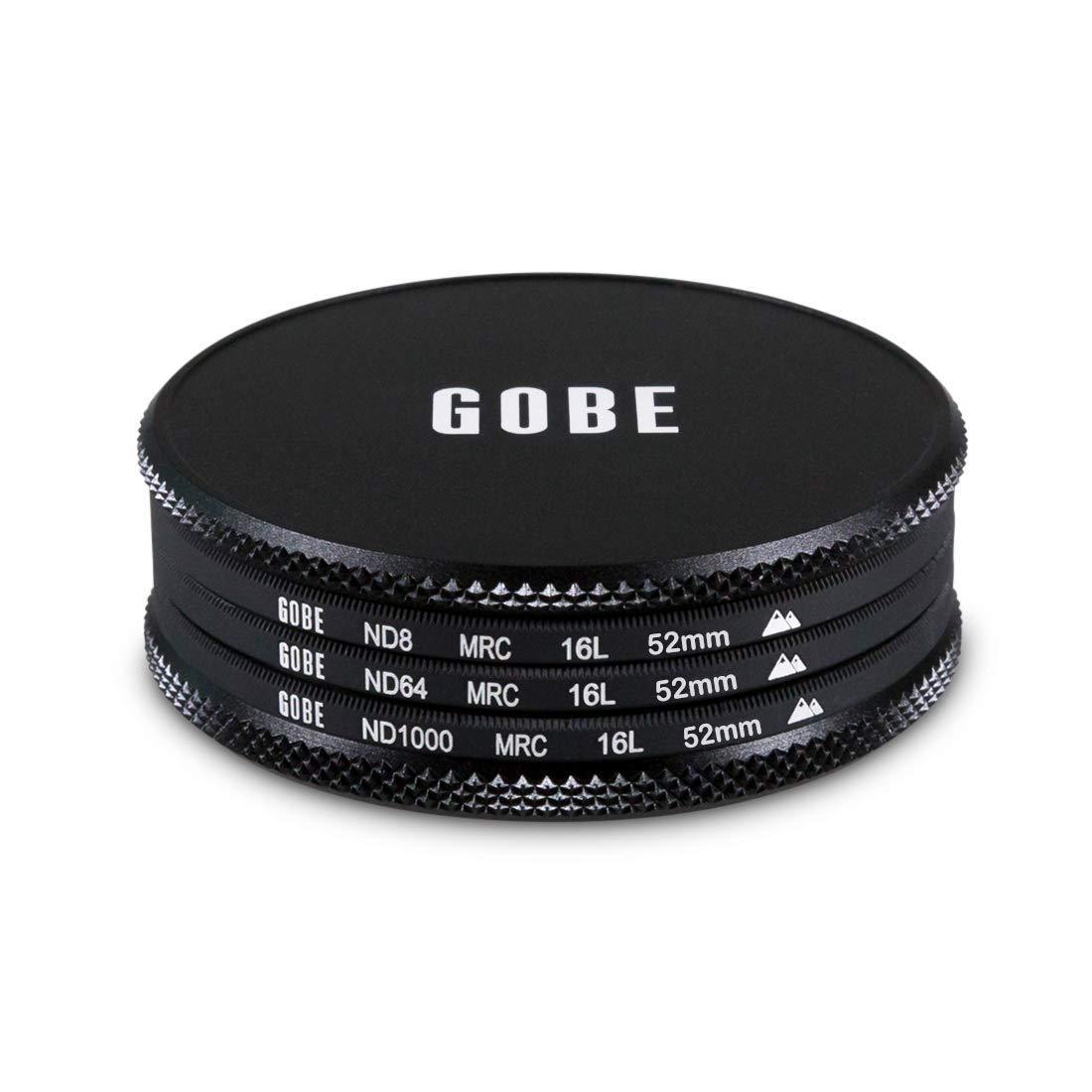 ND64 Gobe ND Filter Kit 62mm MRC 16-Layer ND1000 ND8
