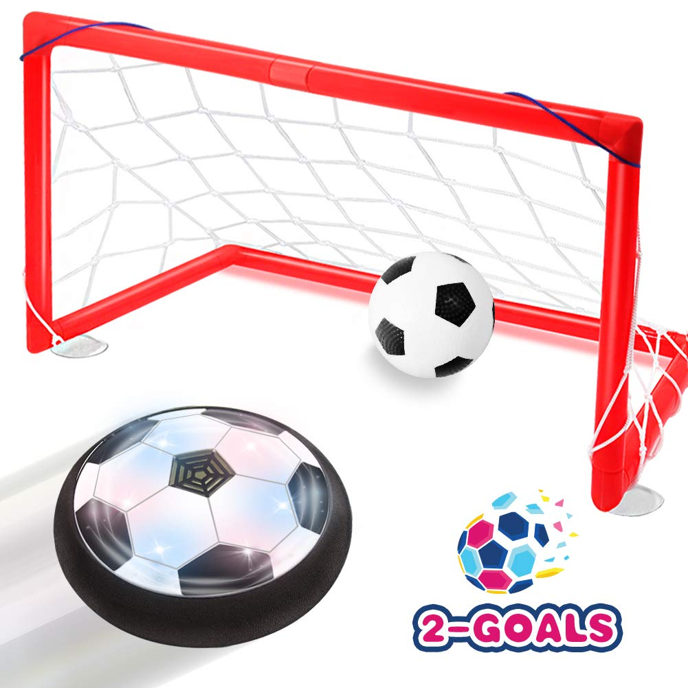 Toyk Kids Toys - LED Hover Soccer Ball Set 2 Goals Mini Screwdriver - Air Power Training Ball Playing Football Game - Soccer Toys 3 4 5 6 7 8-16 Years Old Boys Girls Best Gift by Toyk
