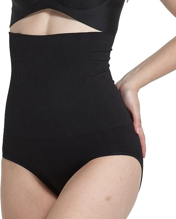 INIBUD Lot de 2 Culotte Gainante Panty Minceur 2 Pack Amincissante Ventre  Plat Minceur Taille Haute d800108d935
