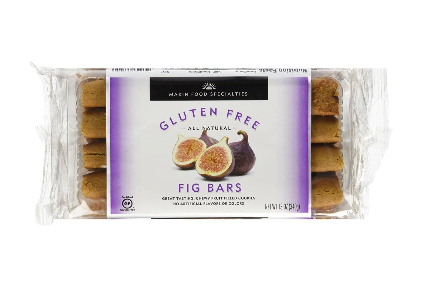 Marin Gluten Free Fruit Bar, Fig, 13 Ounce (Pack of 6)