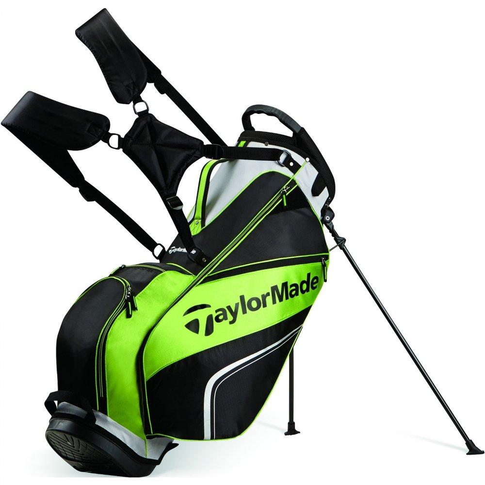 TaylorMade Pro Stand 4.0 Bolsa para Palos de Golf, Hombre, Negro/Gris/Verde, Talla Única