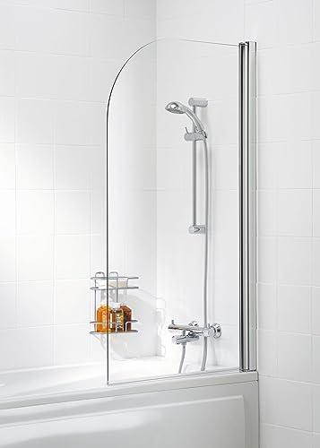 Aqualux 750mm Framed Bath Screen White/Clear: Amazon.co.uk: DIY & Tools