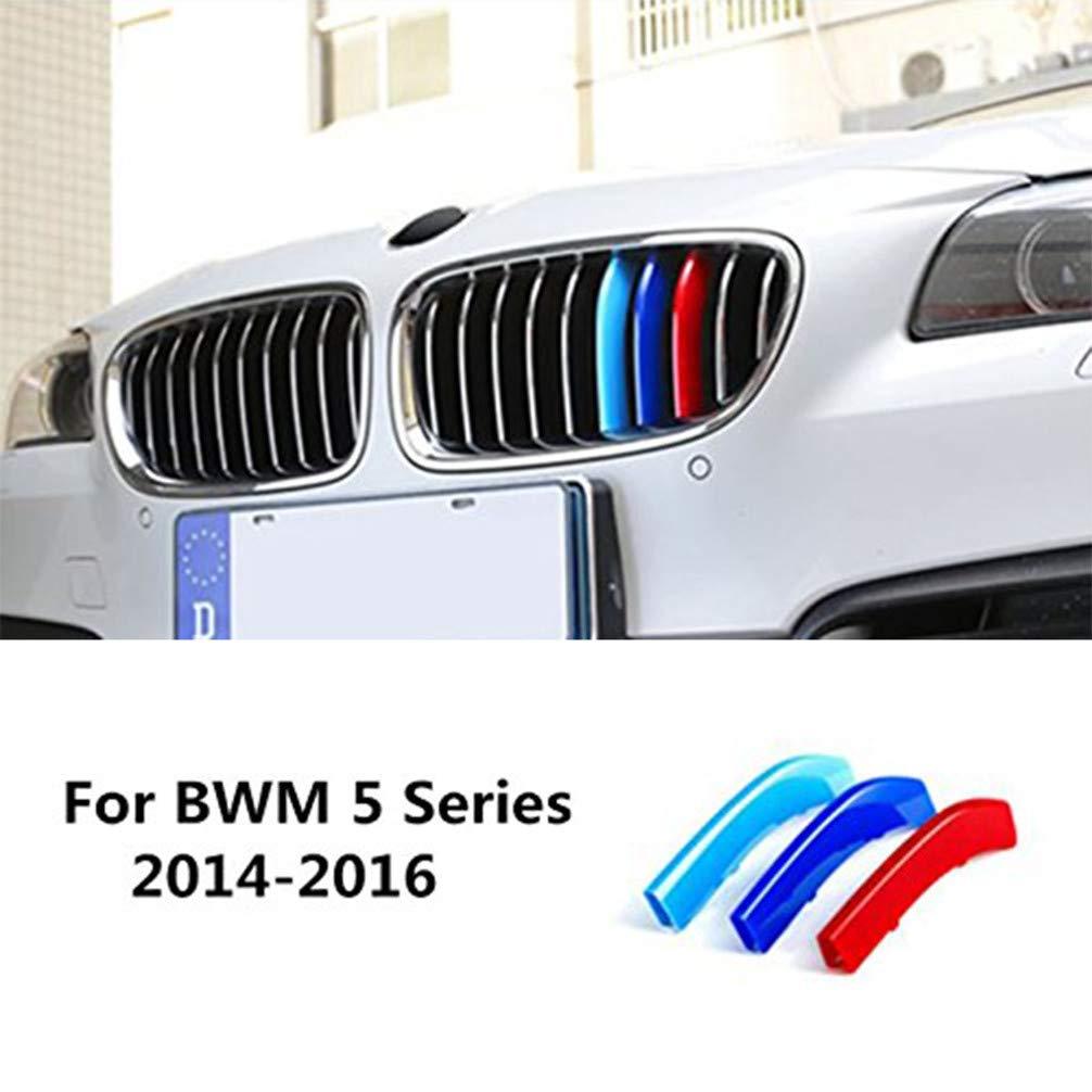 Per B M W 5 Series G30 G31 G38 525i 530i 540i 2018-2019 9 Griglie Auto M-Sport Anteriore Griglia Coperchio Insert Trim Striscia di 3D Adesivi Rene Griglia Radiatore 3 Pezzi
