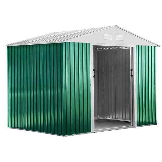 25 opinioni per Box Casetta arredo giardino esterno lamiera verde zincata 261x181xH198cm BASIC L
