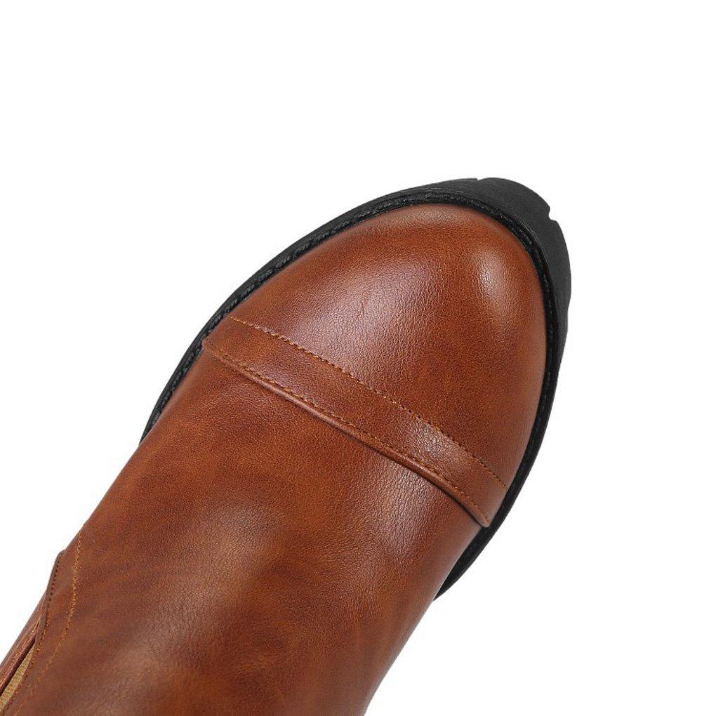 QQNVXUE Herbst und Winter Dicker Boden Boden Boden Martin Stiefel Dicke Ferse Nackte Stiefel Angenehm warm (Farbe   braun, größe   39)  94197e