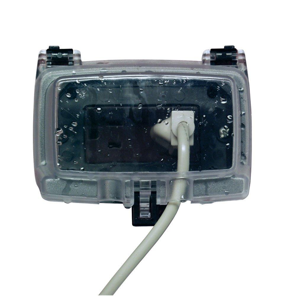 Intermatic WP1010HC 1 Gang Horizontal 3 1 8 Inch Outdoor Box Clear