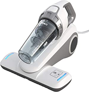 Dibea Bed Vacuum Cleaner with Roller Brush Corded Handheld, White