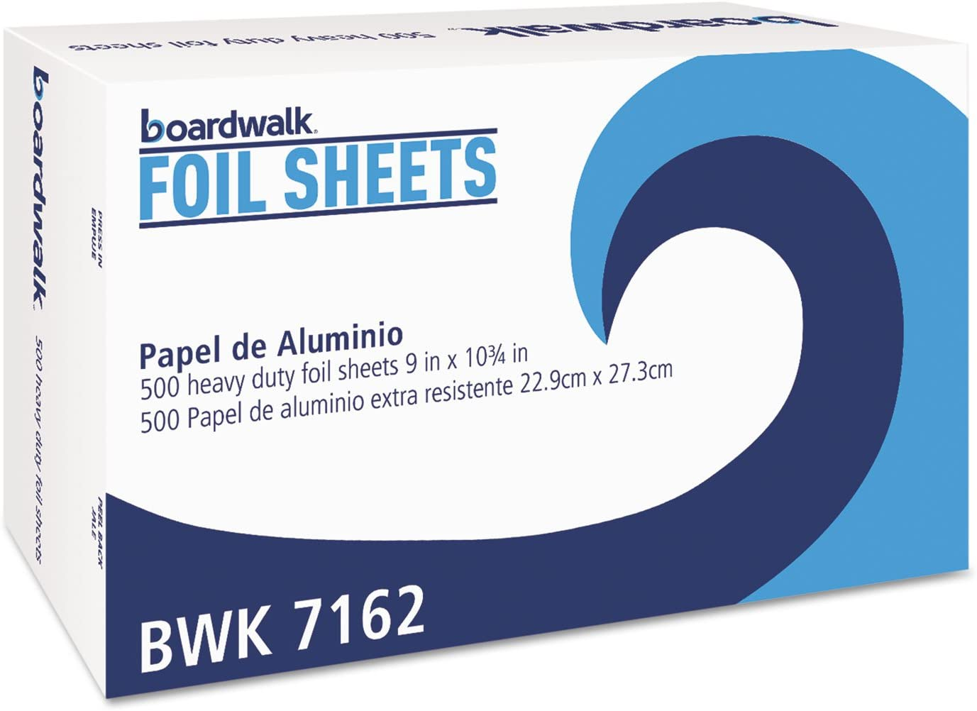 Boardwalk 7162 Pop-Up Aluminum Foil Wrap Sheets, 9 X 10 3/4, Silver, 500/box, 6 Boxes/carton
