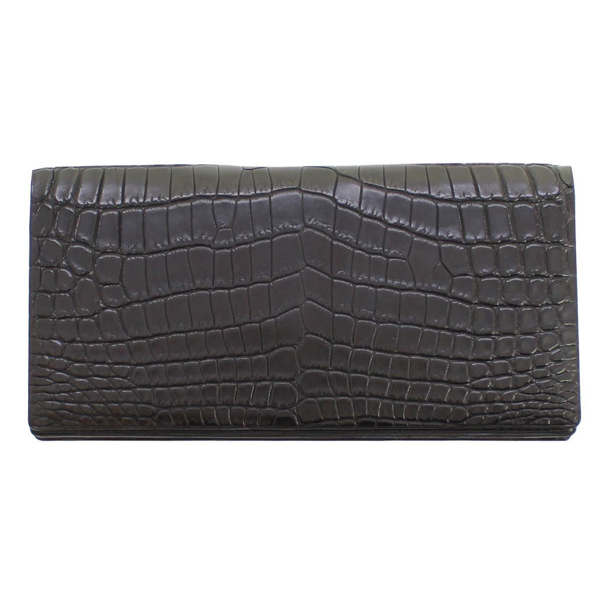 GREDEER クロコダイル 長財布(小銭入付) B07MN2J5PK ブラック